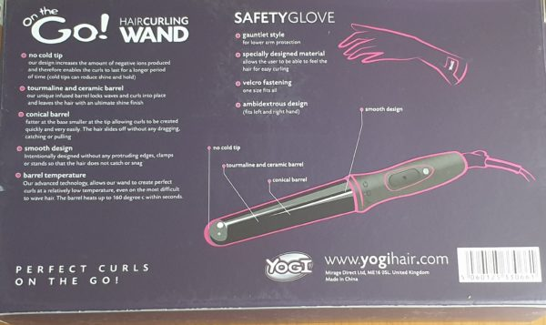 Yogi On-The-Go! Hair Curling Wand