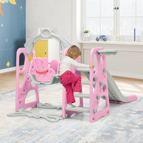Kid's Swing and Slide Set Playground