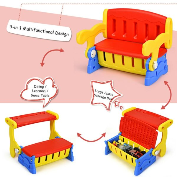 3-in-1 Multifunction Children's convertible Bench