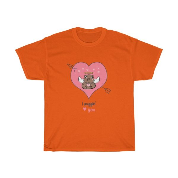Pugging Love You Heavy Cotton Tee