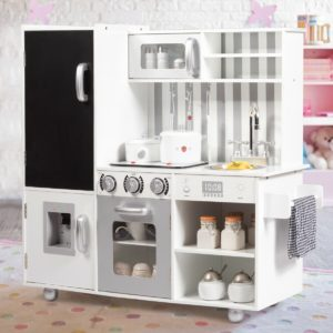 Large Wooden Kid's Play Kitchen Set Toy
