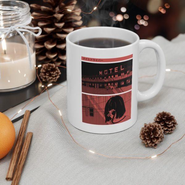 Noir Manga 11oz White Mug