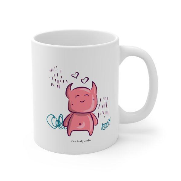 Cute Monster 11oz White Mug