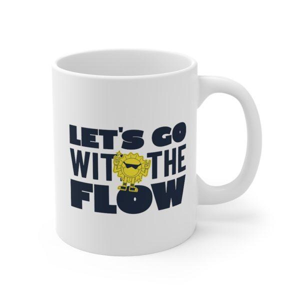 Go With The Flow 11oz White Mug