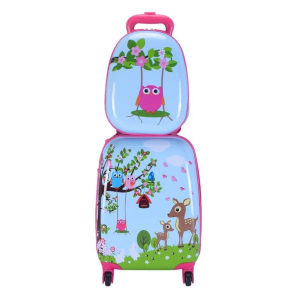 Children's Animal print ABS Trolley Suitcase and Backpack Luggage