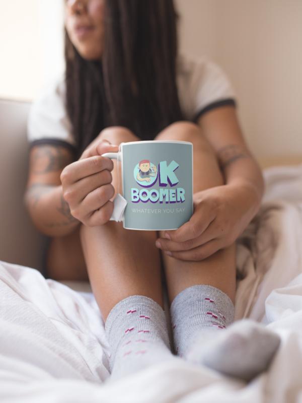 Boomer 11oz White Mug