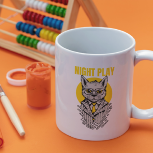 Night Play 11oz White Mug