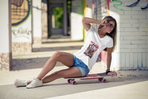 Red Girl Heavy Cotton Tee