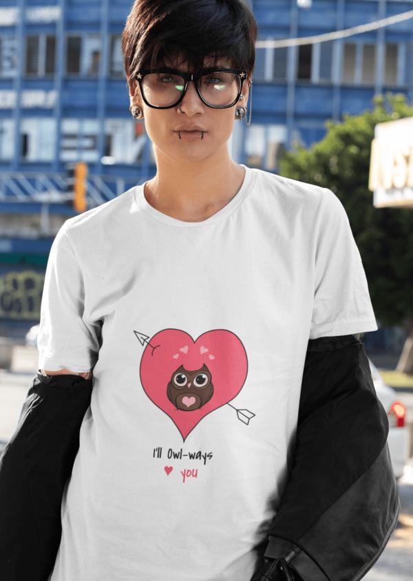 Owl Ways Love You Heavy Cotton Tee