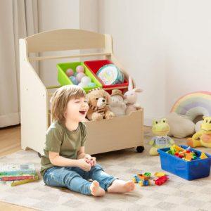 Children's Storage Unit with Shelf
