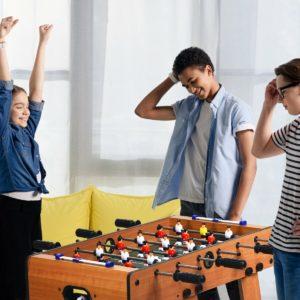 Folding Football Table Indoor Recreational Game Desk