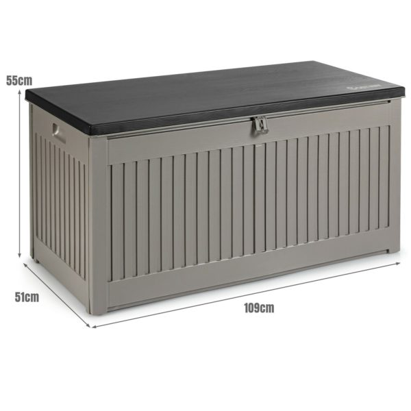 Garden Storage Box with Plastic Lid and Container 320L